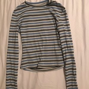 Tops - striped fitted longsleeve shirt